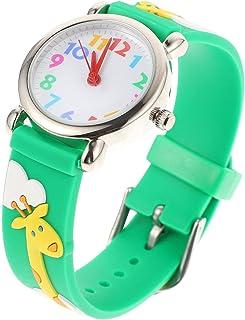 Scicalife Kid Relógio de Quartzo 3D Adorável Giraffe Dos Desenhos Animados Silicone Relógio de Pulso Strap Watch Ou Crianç...