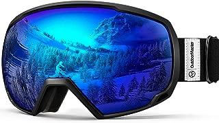 OTG Ski Goggles – Over Glasses Ski/Snowboard Goggles for Men, Women & Youth..