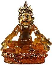 ZGPTX Yellow Treasure God High Imitation Glass Paste Gold Treasure God Yusa Tibetan Collection of Small Buddha Statues