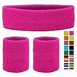 HikBill Schweißbänder Set inkl Sport Stirnband und Handgelenk Schweißbänder für Laufen Fahrrad...