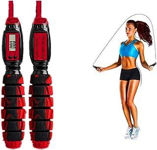 ACRISHAGN Fjäderrep fitness hopprep med mätare justerbar rephoppning och timer för kalorier jump rep med kullager halkfria...