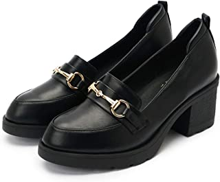 Women's Oxfords tip Lace up Chunky High Heel Thick Heel Shoes Dress Pumps