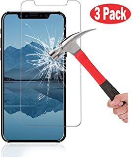 AOKER for Apple iPhone X Screen Protector, [3Pack] [Tempered Glass] [Anti-Scratch] [Toughened Shatterproof] Ultra Slim HD Clear Premium Tempered Glass for Apple iPhone X / 10 (3Pack)