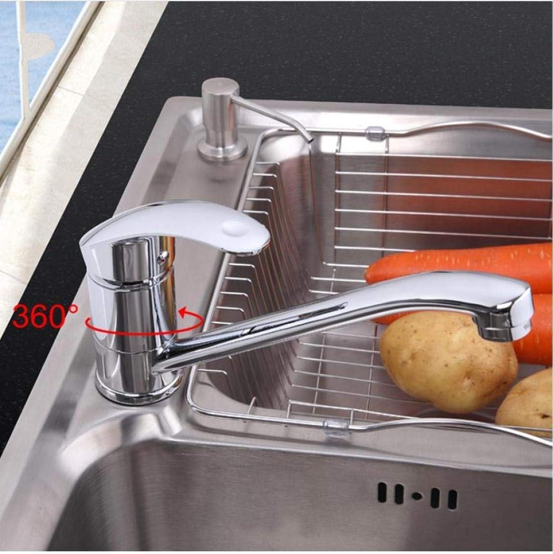 Deck montiert Messing Einhand-Küchenarmatur kalt und warm Mischbatterie
