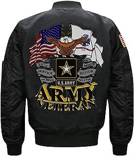 US Army Veteran MA-1 Flight Embroidered Bomber Jacket