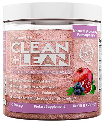 Clean+Lean Natural Performance'Plus' by FitFarm USA: Ultra-Clean Workout Catalyst + Healthy Weight Loss Blend, Lean Muscle BCAA's, and Powerful Antioxidants- 100% Non-GMO Ingredients 42 Svgs, 6.7oz