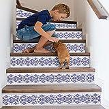FCFLXJ Azulejo Azul Y Blanco Porcelana Creativo Escaleras Pegatinas Personalidad Hogar DIY Pegatinas De Pared Escaleras Decorativas Pegatinas De Pared