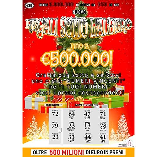 Gratta E Vinci Scherzo Natalizio - 2 Biglietti di Cui 1 Vincente da 100.000€ - Gratta E Vinci Finti Realistici - Fai Un Regalo Speciale E Divertente A Natale - Gratta E Vinci Natalizi 2020