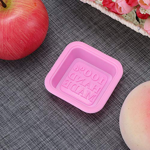 ONEVER 3D Square Forme Conception À La Main BRICOLAGE Silicone Moule Savon Moule Fondant De Décoration De Gâteau Outils Savon Fabrication