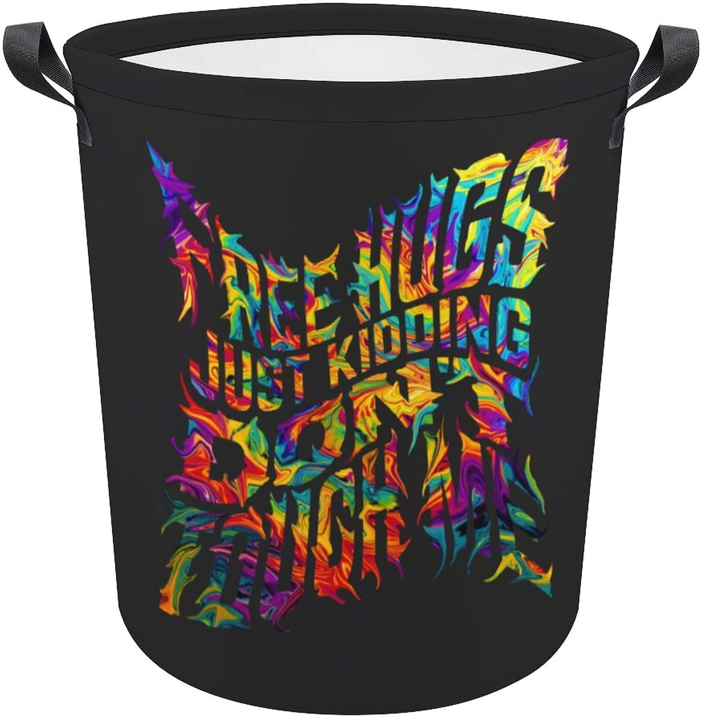 Free Hugs Just Kidding Dont Touch L Color Rainbow Gift Oxford Great interest Me Gorgeous