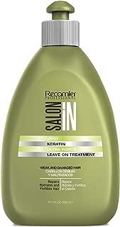 RECAMIER 30662 Leave In Keratin Treatment Conditioner Detangler Moisturizer Hair Combing Style Cream Lotion | Damaged & Weak | Vitamin B5 | Tratamiento de Keratina Cabello Maltratado y Débil 10.1 OZ