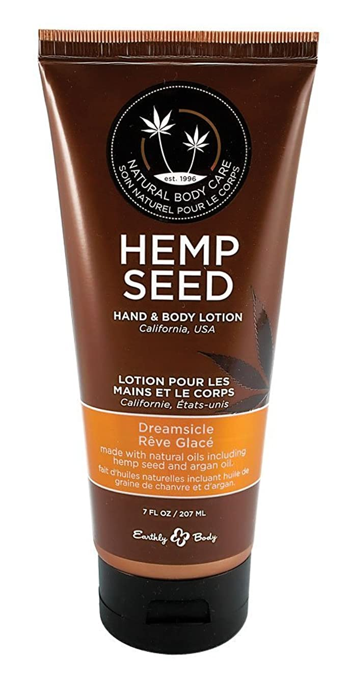 アイドル理論的項目Earthly Body Hemp Seed Hand & Body Velvet Lotion 7oz Tube - Assorted Scents (Dreamsicle) [並行輸入品]