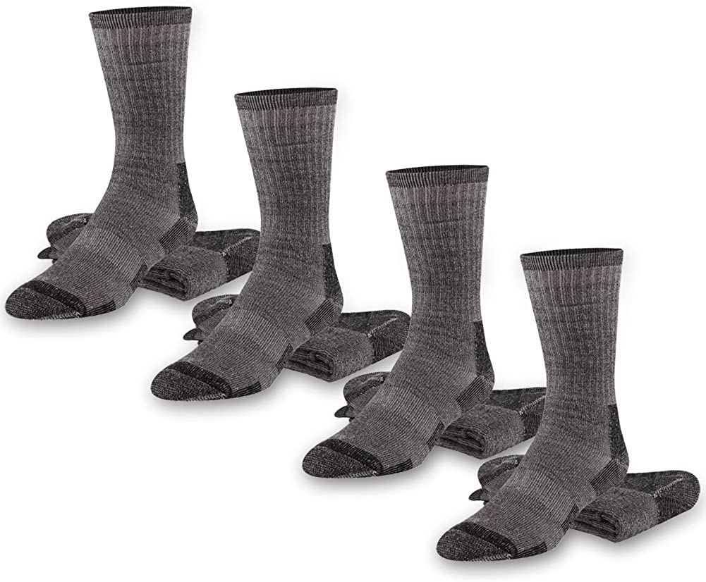 Gmark Unisex Thermal Winter Athletic Outdoor Camping Climbing Crew Sock 1-4 Pairs Size 6-12 Wool Hiking Socks