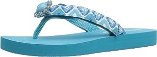 Lindsay Phillips Women's Lulu Flat Sandal, Scuba Blue, 5 M US