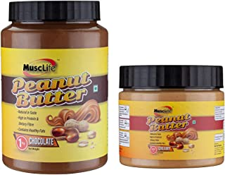 Musclife Chocolate Peanut Butter 1Kg And Creamy Peanut Butter 340gms(Combo)