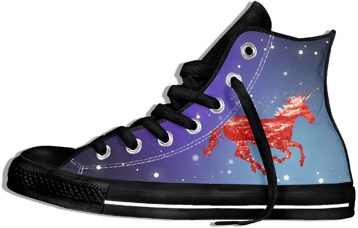Red Unicorn Gym High Top Classic Casual Canvas Fashion shoes Sneakers For Women & Men
