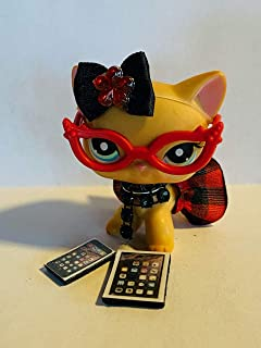 Custom RED NERD LOT clothes for Littlest Pet Shop cat toy/accessories for LPS CAT/DOG *CAT/DOG NOT INCLUDED