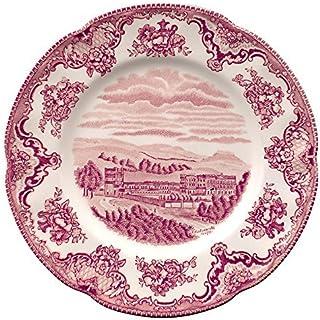 ジョンソンBrothers Dinnerware古いBritain城ピンク8サラダプレートa4256201003by Johnson Brothers