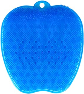 Shower Foot Scrubber Massager & Cleaner for Shower Floor with Suction Cup Improves Foot Circulation & Reduces Foot Pain Blue KIAYACI (Blue)