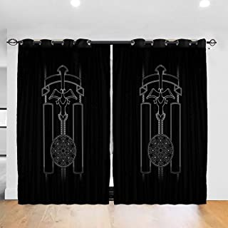 Sliding Curtain Panels, The Thing Outpost 31 Antarctica, Trucker Cap Kitchen Cafe Curtains Half Window Treatments 2 Panel Set, 52W x 63L Inch/Pair