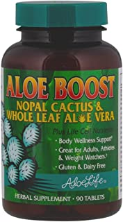 Aloe Life – Aloe Boost, Whole Leaf Aloe Vera and Nopal Cactus Tablets, Formula that Supports Body Wellness, Great for Adul...