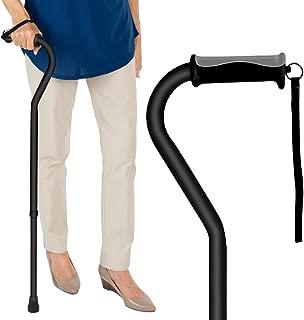 Vive Walking Cane - for Men & Women - Portable, Adjustable Offset Balance Stick - Lightweight & Sturdy Mobility Walker Aid for Arthritis, Elderly, Seniors & Handicap (Black)