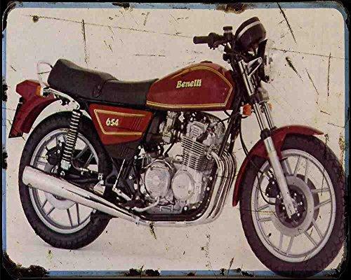 Red Rat Benelli 650 Tornado 80 A4 Fotodruck Motorrad Vintage Aged