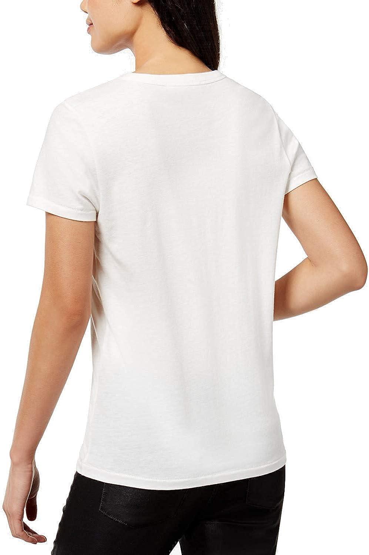 Bow /& Drape Womens Sequin Graphic T-Shirt