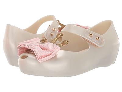 Mini Melissa Ultragirl Princess Bow Me B (Toddler/Little Kid) (White/Pink) Girl