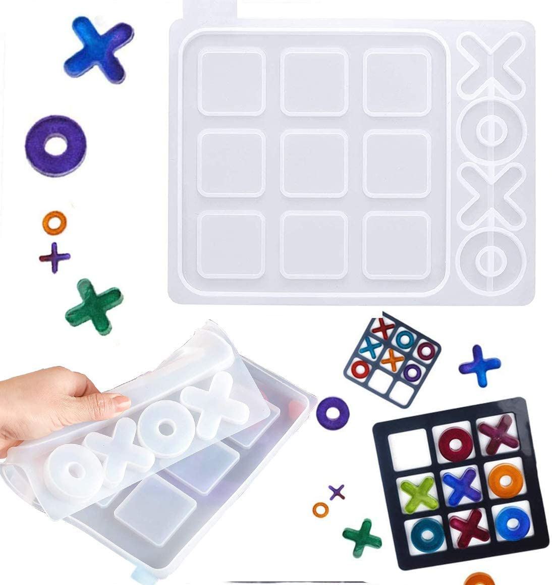 HZMM Tic Tac Toe Max 61% OFF Silicone Ranking integrated 1st place Mold Epoxy Games O R Board X