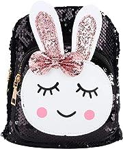 HelloCreate - Mochila escolar para niños de 3 a 6 años, diseño de conejo coreano, color negro