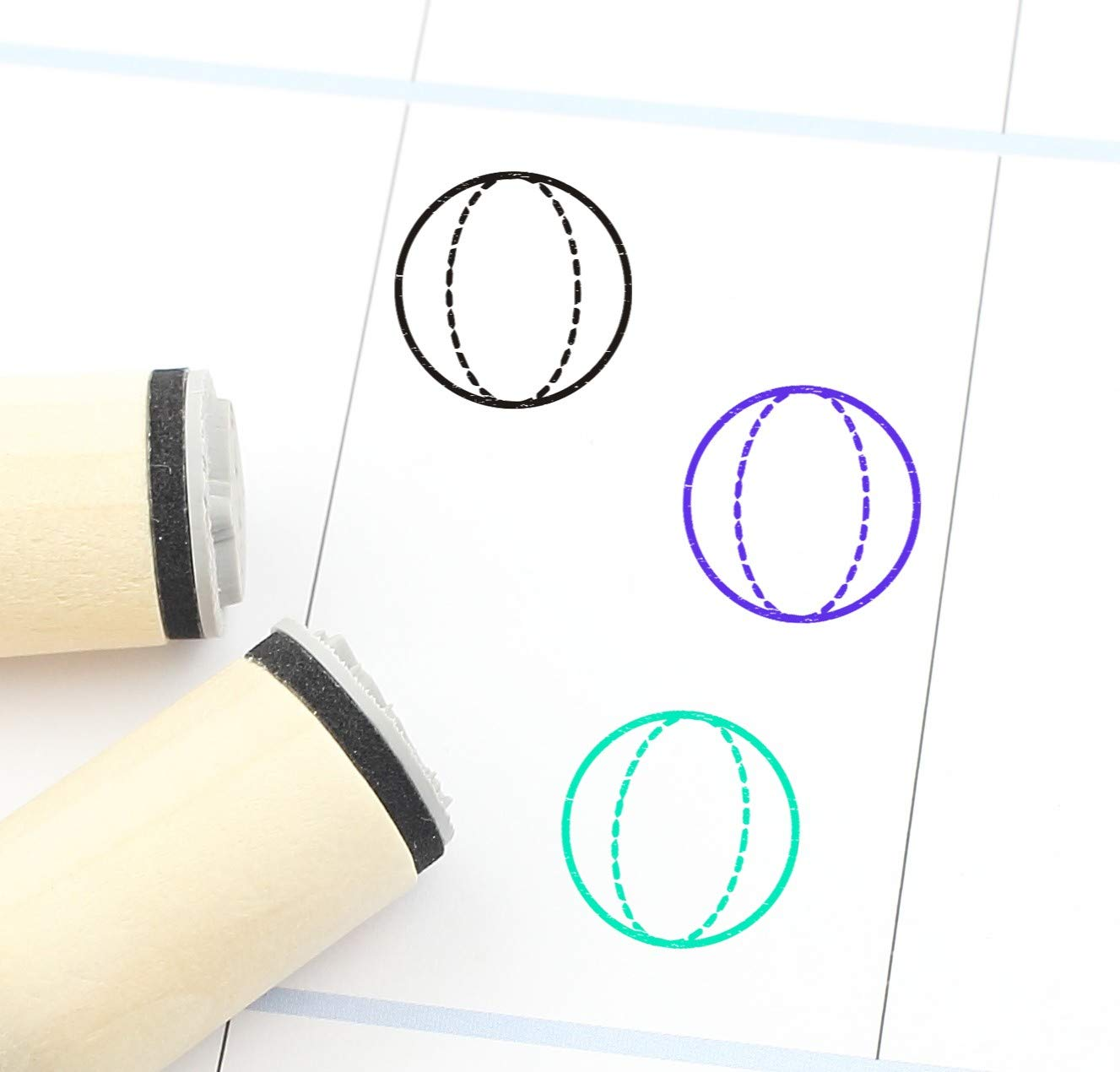 Sphere Rubber Stamp 3D Popular Plann Cute Geometry New item