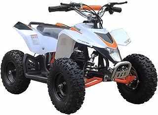 MotoTec 24v Kids ATV v3 in White
