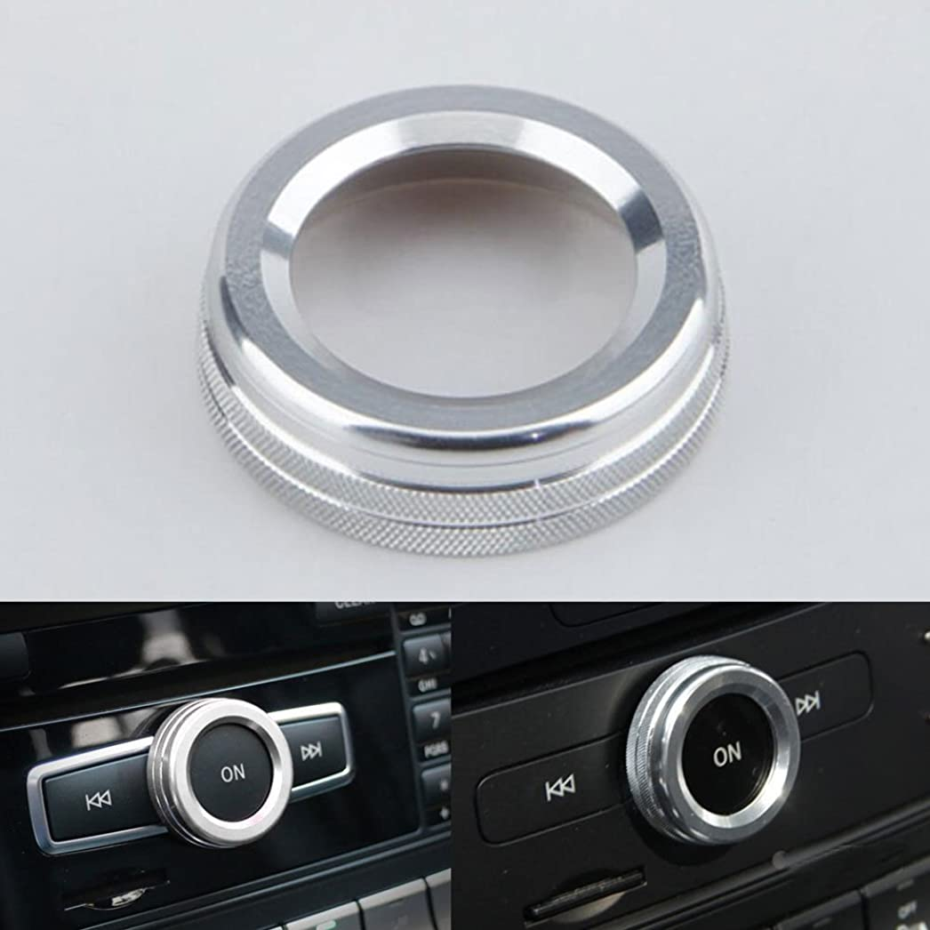 突然ガラス礼儀Jicorzo - Interior Volume Adjust Switch Button Cover Trim Ring Car Styling Sticker For Mercedes Benz A B E Class GLK GLA CLA GLE ML GL [Silver]