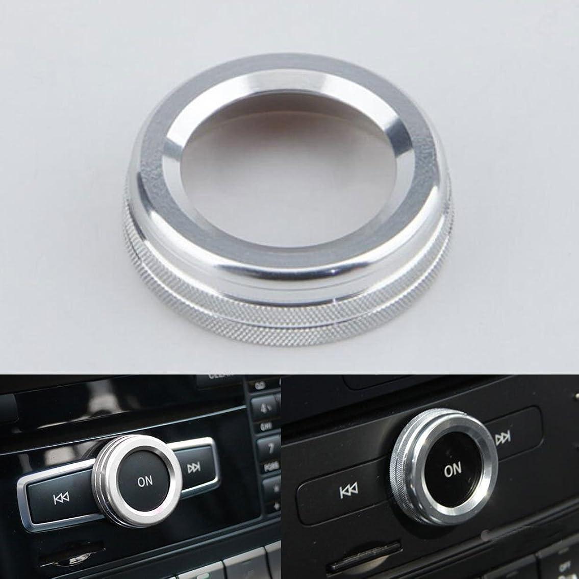 編集者掻くリハーサルJicorzo - Interior Volume Adjust Switch Button Cover Trim Ring Car Styling Sticker For Mercedes Benz A B E Class GLK GLA CLA GLE ML GL [Silver]