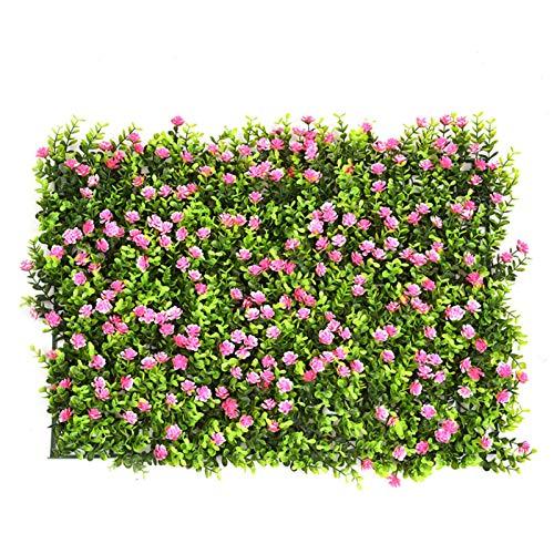 Kbsin212 Kunstrasen Wand Kunstpflanze Pflanzenwand Kuenstliche Wiese Kunstrasen Blumenwand Grasmatte Kunstrasenmatte Wanddeko Für Den Innen Außenbereich Balkon Dekoration Rasen Mit Blume