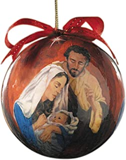 Religious Christmas Tidings of Joy Decoupage Ornaments, Pack of 6