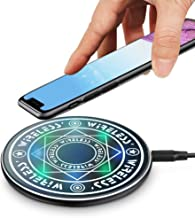 Magic Array Wireless Charger, Ultra-Thin Qi Wireless Charging Pad, 7.5W for iPhone 11 Pro MAX/X/XS/MAX/8/8 Plus, 10W Fast Charging Galaxy S10e Plus/Note 9/S9/S8 Edge More (NOT Adapter) (Black)