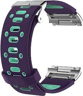 [パープル-グリーン] Fitbit Ionic フィットビット アイオニック Two-tone belt ツートン ベルト スポーツ シリコン 軽量 軽い 丈夫 カラフル ベルト バンド ベルト 交換バンド 腕時計ベルト ベルト 交換ベルト ...