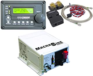 Magnum Energy MS2812MERC50MEBMK Inverter Charger Combo; Includes: MS2812 2800W 12VDC Pure Sine Inverter Charger, ME-RC50 LCD Display Remote Panel and ME-BMK Battery Monitoring Kit