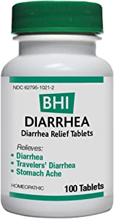 BHI Diarrhea Relief Natural, Safe Homeopathic Relief - 100 Tablets