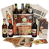 Geschenk Vatertag Bier Geschenkbox | mit Geschenkkarton Bierbroschüre | Vatertagsgeschenk Geschenk Mann Papa Vater zum Männertag | Geschenkset Bierbox