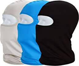 MAYOUTH Balaclava Sun/uv face mask UPF 50+ ski mask Neck Gaiter face Scarf Outdoor Sports 3pack