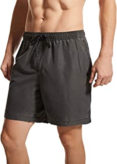 tide trend Mens Solide Workout Shorts Perfect Gym Training Exercise Swim Shorts Without Mesh Lining