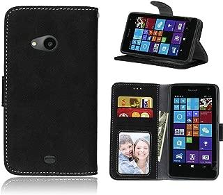 Funda-s Carcasa-s para Microsoft Lumia 535 Libro Wallet Case-s bolsa Cover Negro