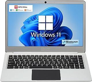 【Windows 11】【Office 機能付き】GM-JAPAN 14.1インチ 超軽量 薄型 ノートパソコン PC 日本語キーボート WPS Office 2019 / Windows 11 / Celeron /メモリ 8GB / SSD...