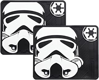 Two Officially Licensed Universal Fit Rear Rubber Automotive Utility Floor Mats - Storm Trooper
