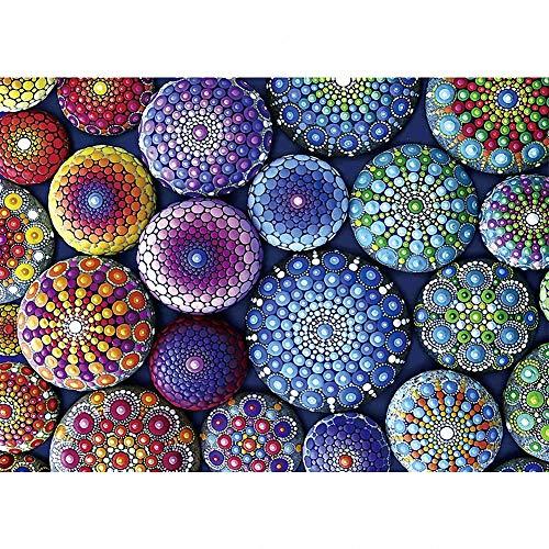 Puzzle de 1000 Piezas - Stone Mandala - Adultos, Adolescentes, niños, Rompecabezas Grande, Juguetes, Regalo, Educativo, Intelectual, descompresión, Divertido Juego Familiar