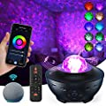 Star Projector Galaxy Projector for Kids, Night Light Projector with Timer & Bluetooth Music Speaker, 10 Color Effects Skylight Work with Alexa & Google Asistant, Perfect Kids Gift