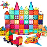 VATENIC 120PCS Kids Magnetic Tiles Building Blocks 2 Car Set Color Magnetic Blocks Toys for Kids Children,Educational Learning Building Toys Birthday Gifts for Boys Girls Age 3 4 5 6 7 8 9 10 Year Old